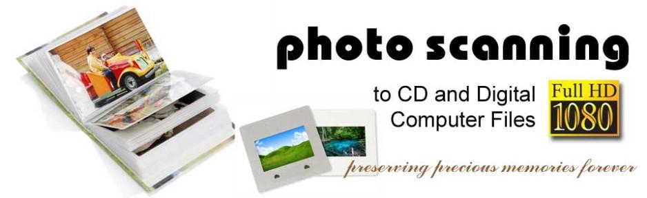 Scan Photos Slides Negatives to Computer Files JPEG TIFF -